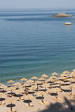 Спокойный штиль на море beachand в утре Стоковые Фотографии RF