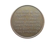 спокойствие монетки Стоковое Изображение RF