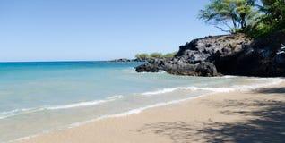 Спокойствие пляжа Waialea стоковая фотография