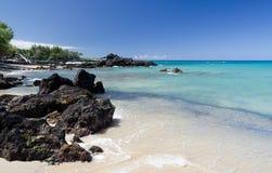 Спокойствие пляжа Waialea стоковые изображения rf