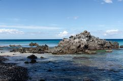 Спокойствие пляжа Waialea стоковое изображение