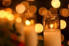 спокойствие 02 свечек светлое Стоковая Фотография RF