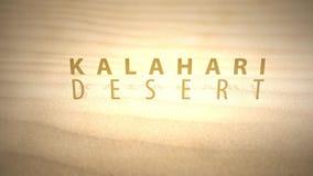 Сползать через теплые оживленные дюны пустыни с текстом - пустыней Kalahari акции видеоматериалы