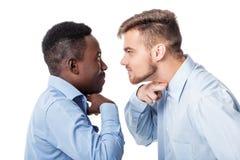 Спорить 2 бизнесменов Стоковая Фотография RF