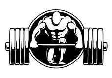Спортзал фитнеса логотипа культуризма Стоковые Фото