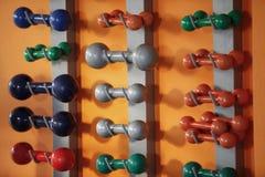 Спортзал веса гантели Стоковое Изображение RF