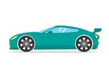 Спортивная машина гонки Автомобиль coupe суперкара настраивая Плоский корабль транспорта иллюстрация штока