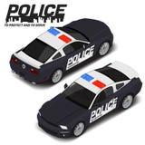 Спортивная машина полиции вектора равновеликая высококачественная Значок перехода иллюстрация вектора