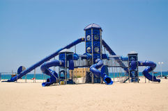 спортивная площадка детей пляжа Стоковые Фотографии RF