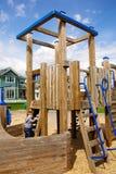 спортивная площадка мальчика играя детенышей Стоковое фото RF