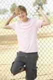 спортивная площадка мальчика подростковая Стоковая Фотография
