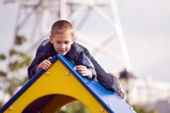 спортивная площадка мальчика Стоковая Фотография RF