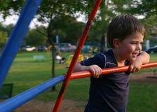 спортивная площадка мальчика Стоковые Фотографии RF