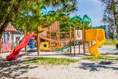 Спортивная площадка на песке в парке стоковые фото
