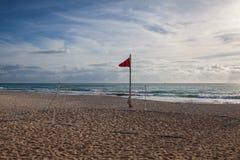 Спортивная площадка на пустом пляже в Playa del Carmen, Мексике Стоковое Фото