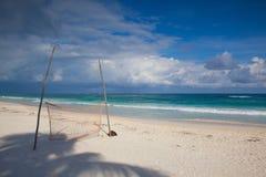 Спортивная площадка на пустом пляже, Мексика Стоковое Фото