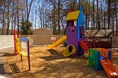 спортивная площадка оборудования daycare Стоковая Фотография