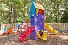 спортивная площадка оборудования daycare Стоковая Фотография RF