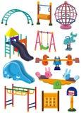 спортивная площадка парка иконы шаржа Стоковая Фотография