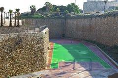 Спортивная площадка спорта на стенах Akko в Израиле Стоковые Изображения