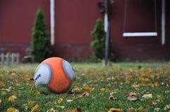 Спортивная площадка с листьями шарика, качания и падения Стоковые Изображения RF