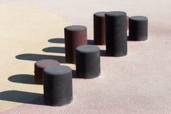 Спортивная площадка элемента в парке стоковое изображение