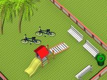 спортивная площадка 3d стоковое изображение rf