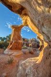 Спортивная площадка Escalante Юта дьяволов - уникально горные породы песчаника стоковое фото rf