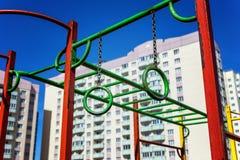 Спортивная площадка ` s детей в городе Стоковые Изображения RF