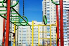 Спортивная площадка ` s детей в городе Стоковые Фото