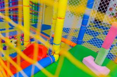 Спортивная площадка ` s детей спортивная площадка детского сада Стоковые Изображения