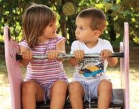 спортивная площадка детей Стоковые Фотографии RF