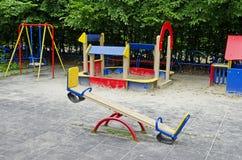 Спортивная площадка детей Стоковое фото RF