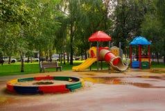 Спортивная площадка в парке Стоковое Изображение