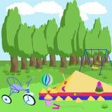 Спортивная площадка и игрушки Стоковое фото RF