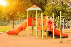 Спортивная площадка на дворе в парке Стоковое фото RF