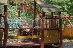 спортивная площадка парка детей самомоднейшая Стоковая Фотография