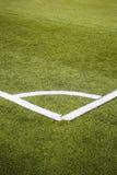 Спортивная площадка футбола, футбол, искусственный Стоковая Фотография RF