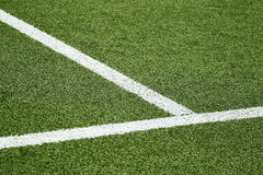 Спортивная площадка футбола Стоковое Фото