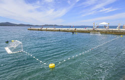 Спортивная площадка для водного поло на море Стоковые Фотографии RF