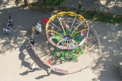 Спортивная площадка для детей в русском городе Kaluga Стоковые Фото