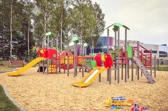 Спортивная площадка для детей Стоковое Изображение