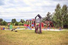 Спортивная площадка для детей Стоковое фото RF