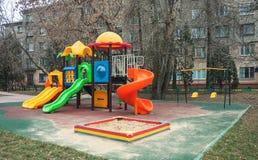 Спортивная площадка для образования ` s забавных игр и детей Стоковая Фотография