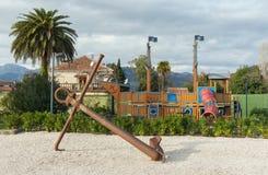 Спортивная площадка hildren ¡ Ð в Порту Черногории Город Tivat, Monteneg Стоковые Изображения RF