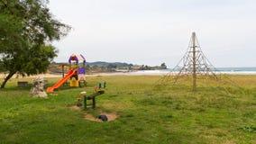 Спортивная площадка ` s детей на пляже Стоковое Изображение RF