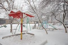 Спортивная площадка Snowy Стоковое фото RF