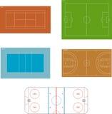 спортивные площадки Стоковое Фото