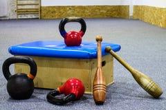 Спортивный инвентарь - тренировка - гимнастика Стоковые Изображения