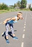 Спортсменка на третбане Стоковая Фотография